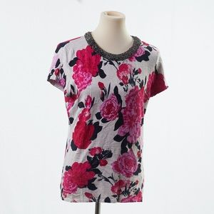 4/$25 INC International Concepts Beaded Floral Top
